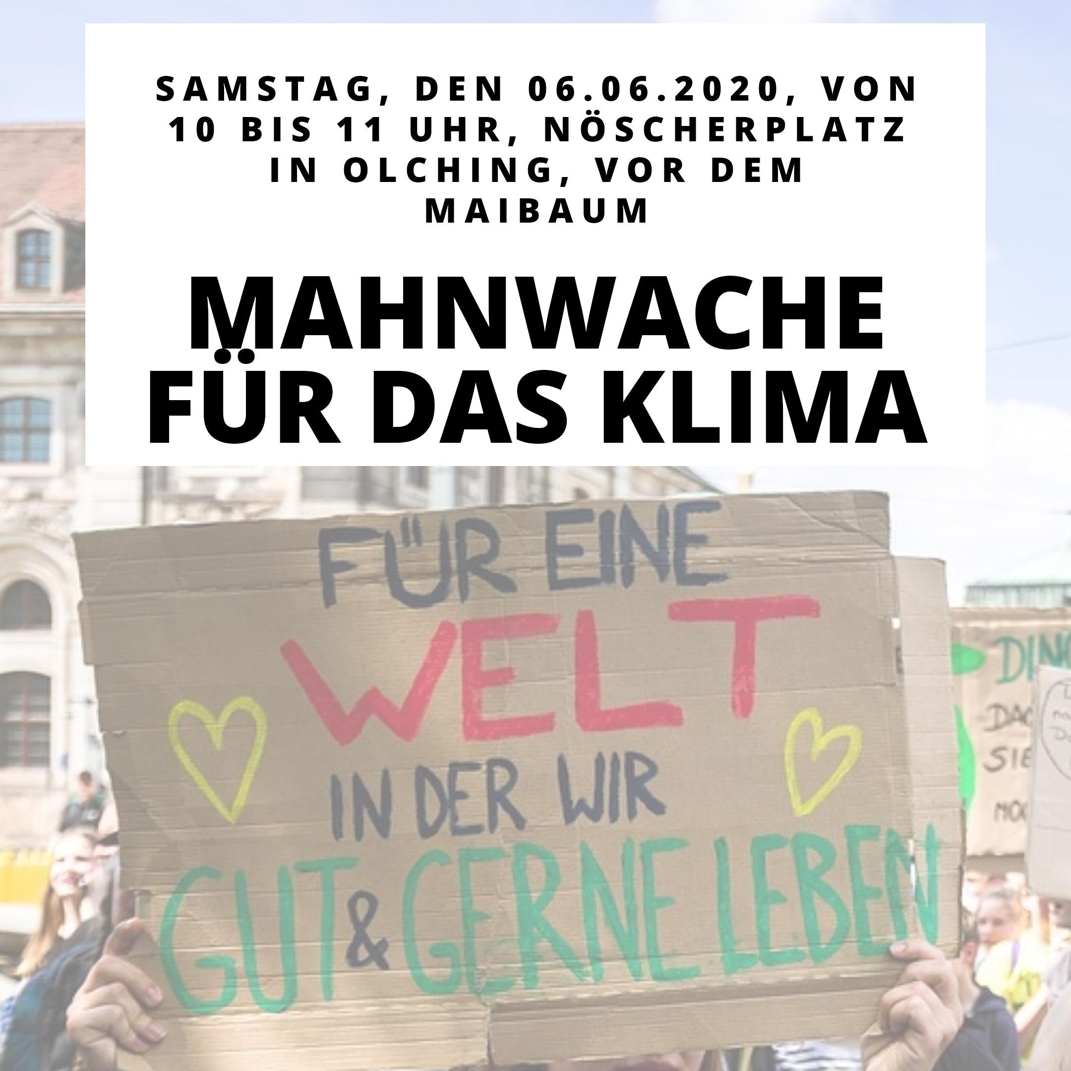 Mahnwache für das Klima am 06.06.2020