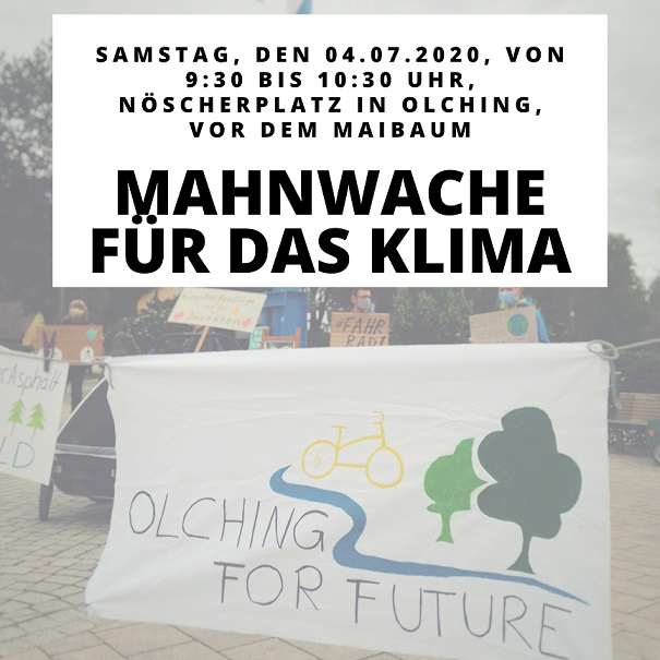 Mahnwache für das Klima am 04.07.2020